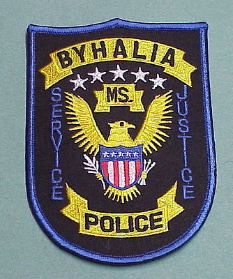 Byhalia  Mississippi  Ms Service / Justice   Police Patch   Free Shipping!!!