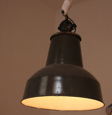 Emaille Lampe/Industrielampe/ Fabriklampe,Vintage Industrial Lamp