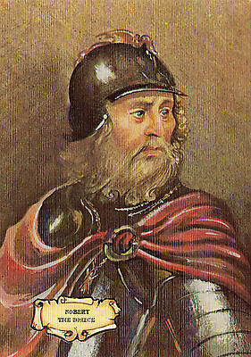 Old Victorian POSTCARD Scottish King of Scots Robert The Bruce Medieval Military