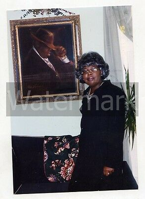 Original photo of Notorious BIG Biggie Smalls painting   His mother standing by