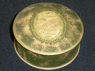 NOS Vintage 1920s DJER-KISS French Face Powder Compact SEALED Kerkoff Paris