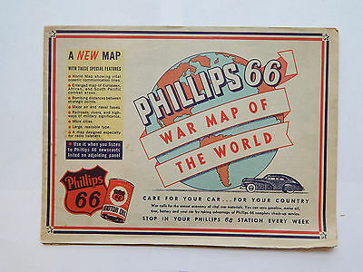 Phillips 66 War Map of the World (1940s) [20x27]