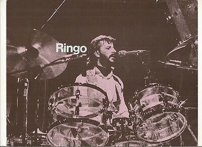 """8 1x2 x 11"""" promotional picture Ringo Starr, 1970s"""