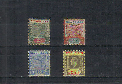 Seychelles Four early stamps