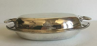 Antique Vtg Holmes Edwards PAGEANT Silver-plated Lidded Serving Dish Casserole