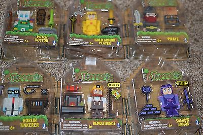 Lot of 6 Terraria Jazwares Action Figure Sets Witch Doctor Goblin Pirate NIB