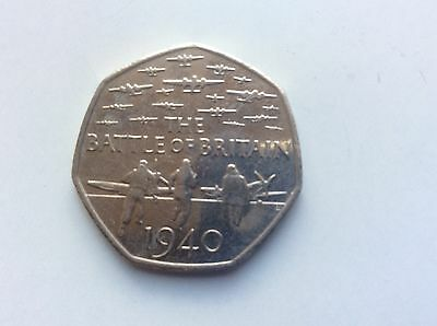 50p COIN COMMEMORATING THE BATTLE OF BRITAIN 2015