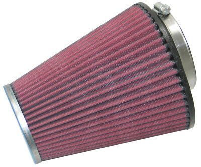 RC-1586 K&N Universal Chrome Air Filter 70MM FLG, 147MM B OD, 89MM T OD, 190MM H