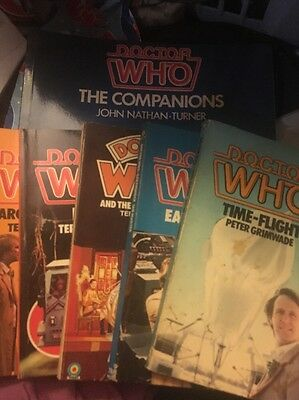 Doctor Who Novel Paperback Book Lot Plus The Companions Book