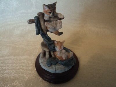 Vintage Hand Crafted/painted (Country Artists) Cat/kitten Pairing - Gorgeous.