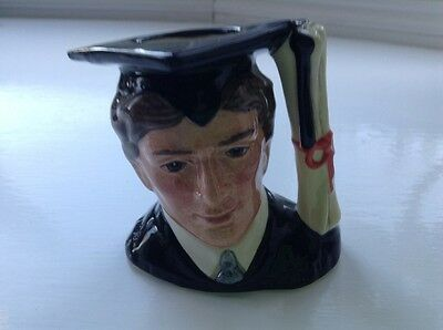 Royal Doulton THE GRADUATE Small Character Jug - D6916. Stanley J. Taylor