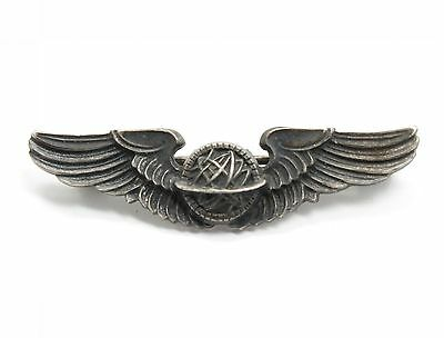 WWII Era Sterling Silver United States Army Air Force Navigator Wings Insignia