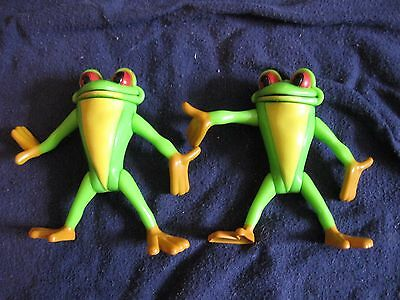 lot of 2 Rain Forest Cafe tree frog action figures 3.5""