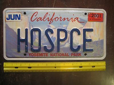 Yosemite National Park California CA Metal Vanity Tag License Plate