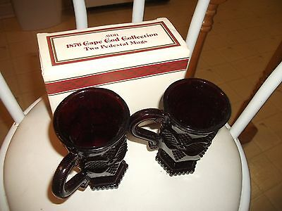 """SEE! Collectible 1982 Avon """"1876 CAPE COD COLLECTION"""" Mugs in Box-NR"""