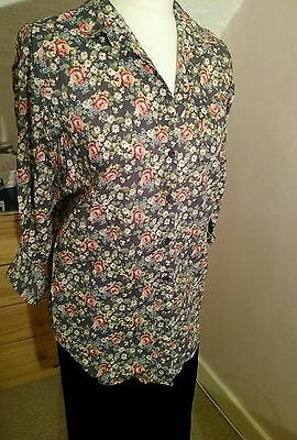 girls / ladies blue floral shirt age 12 / 13, or size 8 bnwt