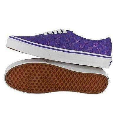 267b9c9558 New Vans Authentic Gliter Check Liberty Purple Shoes Mens 9 Womens 10.5 27  Cm