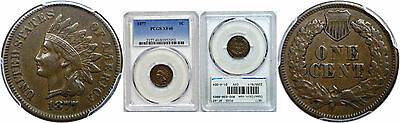 1877 Indian Head Cent PCGS XF-40
