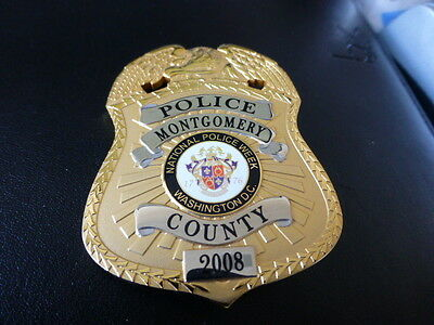 Vintage Obsolete  2008 Natl Police Week Montgomery County MD Police Badge