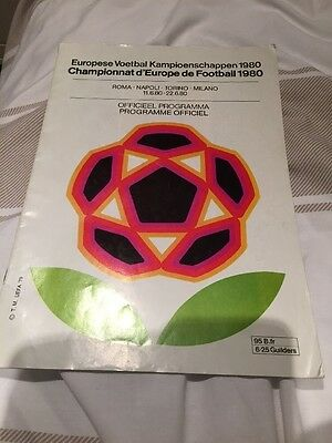 European Championship Italy Programme 1980 England Finals
