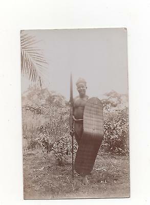 Witch Doctor at Kinshasa,Africa,RPPC (Thos.Lewis Birmingham)