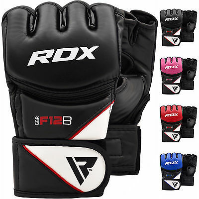 RDX MMA Gants Entrainement Arts Martiaux Sparring Kickboxing Cuir Grappling A FR