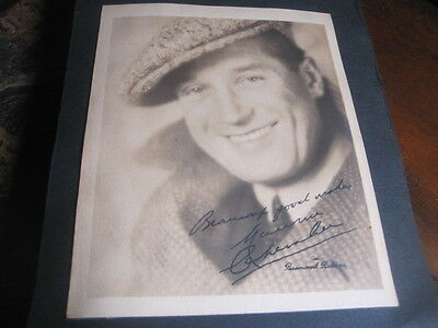 Silent Film Actor MAURICE CHEVALIER photograph Impressed Autograph