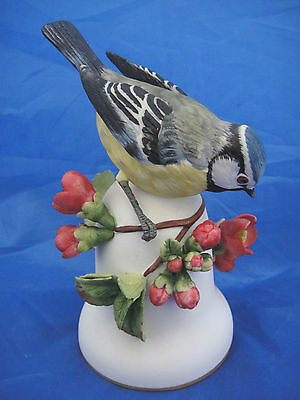 Lovely Collectable Bell with a Blue Tit Figure designed by Peter Barrett