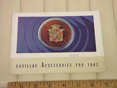 1942 CADILLAC - Car Accessories Sales Brochure Catalog - SUPER RARE