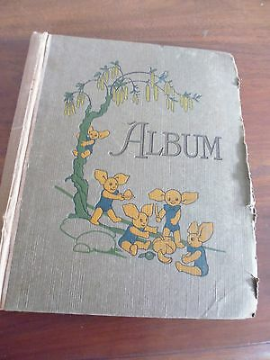 Vintage scrap album - Royal Family - from 1933 - some pages of Bourbons