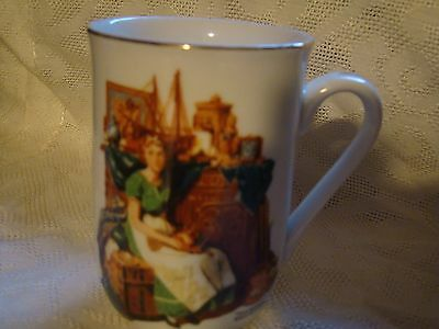 Euc Norman Rockwell Mug -  Dreams In The Antique Shop - 1986