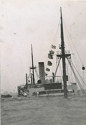 WWII 1940s Belgium Freighter Flanders after collision with Russian ship photo