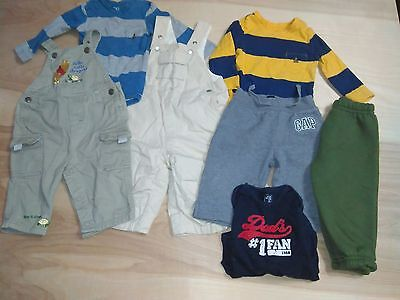 Infant Baby Boys' 7 Piece Lot Pants Shirts Overalls Size 6-9, 6-12 Months