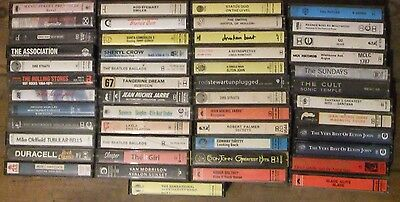 A Good Job Lot Of 47 Music Cassette Album Tapes Mixed Artistes And Labels
