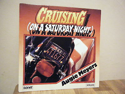 "7"".PICTURE SLEEVE.country rock.AUGIE MEYERS.1984.CRUISING.sonet.PROMO.. DEMO"