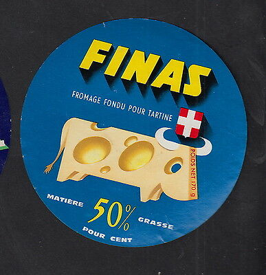 Ancienne  étiquette Fromage  France  BN10577 Finas