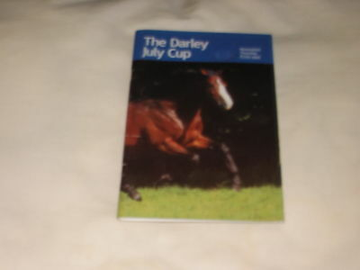 Newmarket 1999 July Cup Race Card