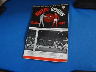 United Review Manchester United VS Southampton Programme From 1967