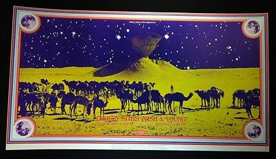 CROSBY STILLS NASH YOUNG 1970 Portland Coliseum Concert Poster CSN&Y NEIL YOUNG