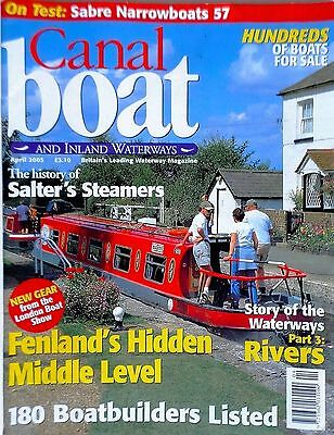 Canal Boat and Inland Waterways magazine. april 2005 free p&p to uk