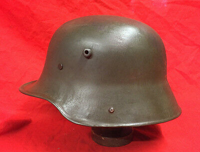 Ww1 German M16/17 Steel Helmet With Liner Band & Rivets Original,from France.