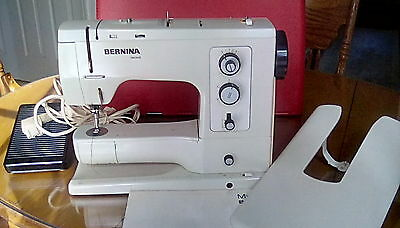 Bernina Record Sewing Machine Vtg Works W/ Case Pedal Manual Extension Table