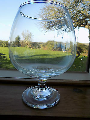 """Large Vintage Retro Clear Brandy Balloon Glass Vase 7"""" Tall"""