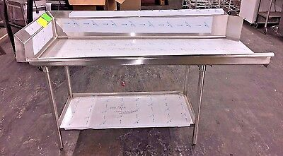 "New Commercial Stainless Steel Left Side Clean Dish Table 71.5"" x 30"" x 45"""