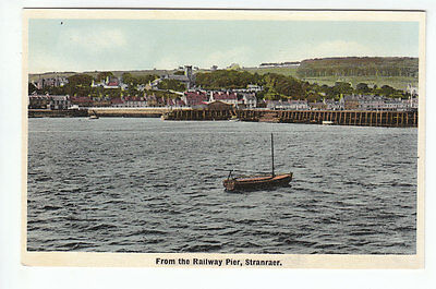 Stranraer From The Railway Pier Wigtown ETW Dennis 34 Old Postcard Unposted