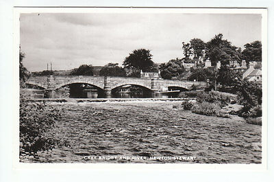 Cree Bridge And River Newton Stewart Wigtown Real Photograph M&L National Series