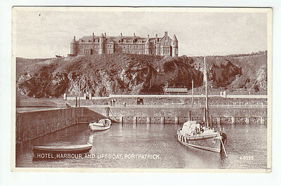 Hotel Harbour And Lifeboat Portpatrick Harbour Wigtown 1937 Watson Brunswick Rd