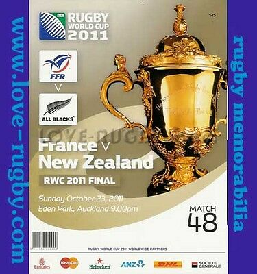 48 - RWC 2011 New Zealand v France Rugby Programme World Cup FINAL Match - 48 r