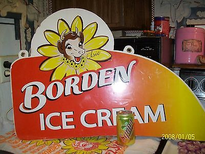 VTG BORDEN'S DAIRY ELSIE COW  Advertising DOUBLE sided Hanging Sign