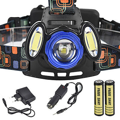 15000LM 3x XML T6 Rechargeable Headlamp Headlight Torch Lamp+ 18650+ Charger Kit
